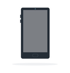 black smart phone vector image