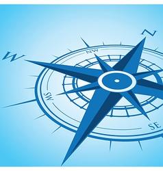 Blue compass vector