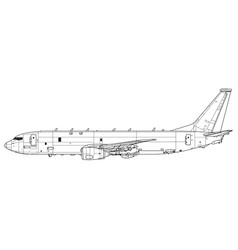 Boeing p-8 poseidon with harpoon anti-ship missile vector