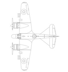 Bristol beaufighter vi and x top vector