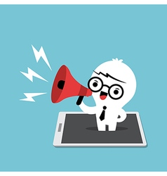 business man with megaphone cartoon vector image