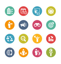 business opportunities icons - fresh colors series vector image