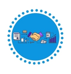 Business partners icon flat design vector