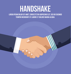 businessman handshaking or handclasp hand shake vector image