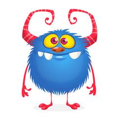 Cartoon grumpy monster character vector