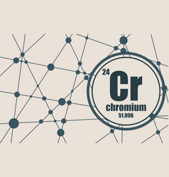chromium chemical element vector image