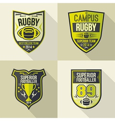 College best rugby team emblems vector image