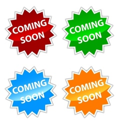 Coming soon labels set vector