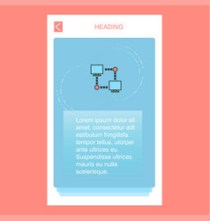 computer networks mobile vertical banner design vector image