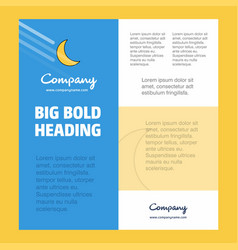 Cresent business company poster template with vector
