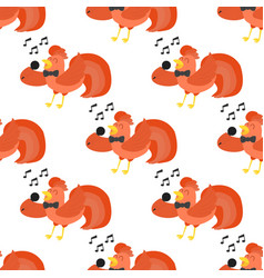cute cartoon singing rooster vector image