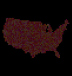 Dotted usa map vector