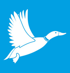 duck icon white vector image