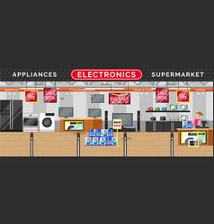 Electronics appliances supermarket big sale vector