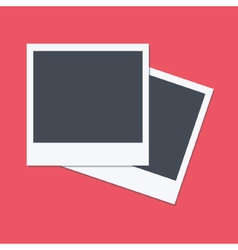 Empty polaroid frames flat design vector