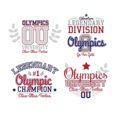Fan Art Olympics vector image