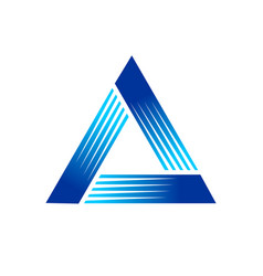 fast pyramid blue symbol logo graphic design vector image