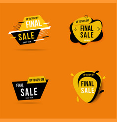 final sale banner bundle for promotion vector image