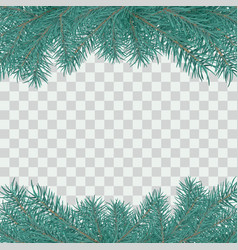 fir branch border winter holiday decoration vector image