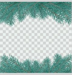 fir branch border winter holiday decoration vector image