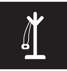 Flat icon in black and white style Coat hanger vector