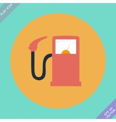 Gas station fuel pump vector