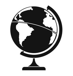 Geographic planet icon simple style vector