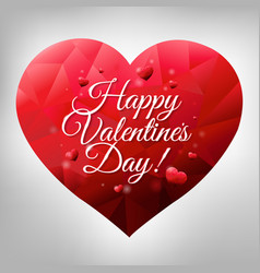 happy valentines heart vector image
