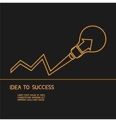Idea make to success Concept of idea vector image
