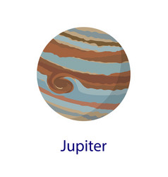 jupiter planet icon flat style vector image