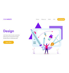 landing page template design concept modern vector image