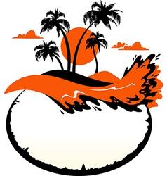 landscape tropical banner vector image