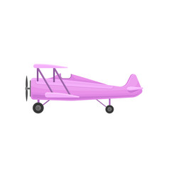 lilac small vintage plane light aircraft vector image