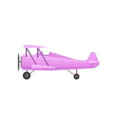 Lilac small vintage plane light aircraft vector