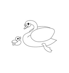 line cartoon animal clipart vector image