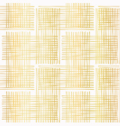 luxe gold criss cross weave hand drawn vector image