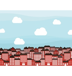 Many storeyed city vector