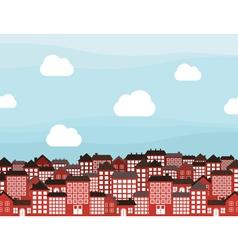 Many storeyed city vector