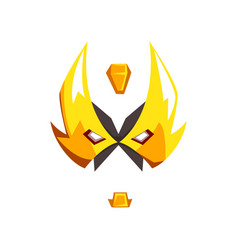 Mask of hero or villain face vector