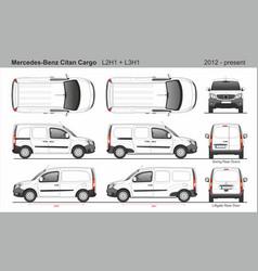 Mercedes citan cargo van l2h1 l3h1 2012-present vector