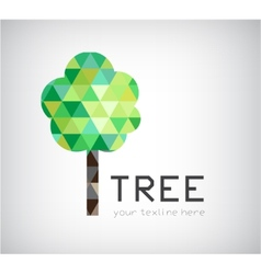 modern crystal tree logo eco organic icon vector image