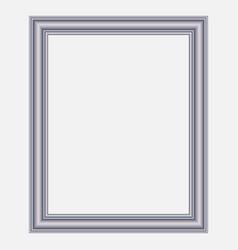 Modern silver frame vector