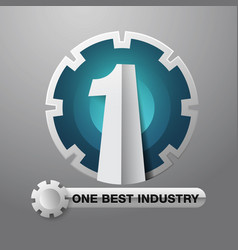 number one industry vector image