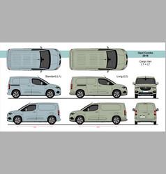 Opel combo cargo van l1 l2 2018-present vector