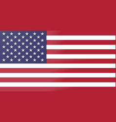 paper cut usa flag vector image