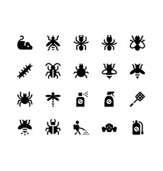 pest control glyph icons vector image