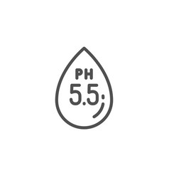 Ph neutral line icon clinically tested sign vector