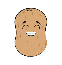 Potato cartoon face vector