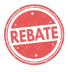 rebate sign or stamp vector image