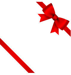 red bow for gift and greeting card isolated vector image